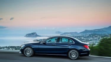 Mercedes C-Class 2014 side - non-UK model
