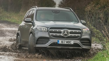 Mercedes GLS - front off-road