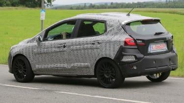 Ford Fiesta ST - 2018 spy shot rear cornering