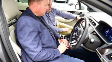 JLR tech secrets feature- Steve in car