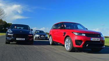 Range Rover Sport SVR vs Audi RS6 vs Porsche Cayenne Turbo