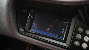 The Sport Racer model gets certain optional touches such as a 7 Inch touchscreen sat-nav and bluetooth.