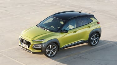Hyundai Kona - green front static