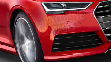 Audi A4 2015 exclusive pic - front detail