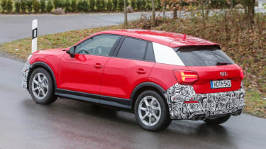 Audi SQ2 - red spied side/rear