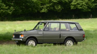 Old Range Rover Velar - side action