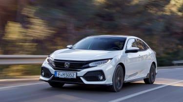 Honda Civic 2017 EU - white front tracking