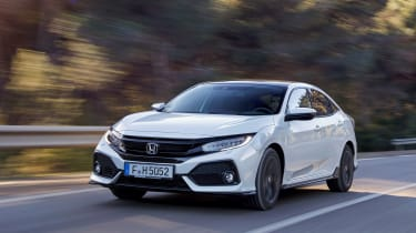 Honda Civic 2017 EU - white front tracking