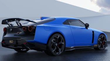 Nissan GT-R50 by Italdesign - blue rear 3/4 static