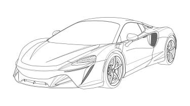 McLaren Artura - front sketch