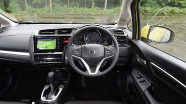 Honda Jazz yellow dashboard
