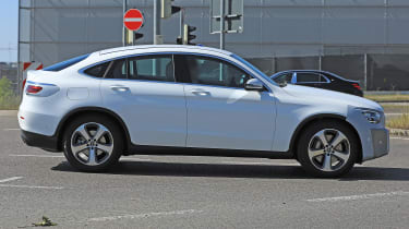 Mercedes GLC Coupe spied - side