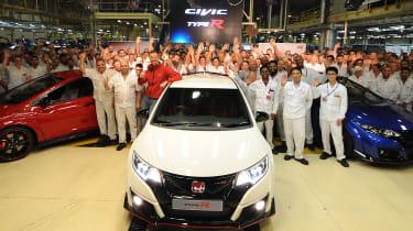 Honda Civic Type R production starts in Swindon
