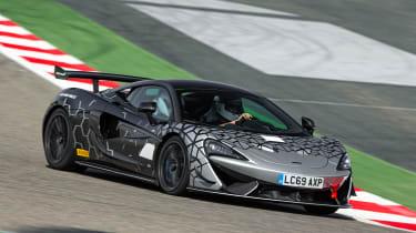 McLaren 620R - front cornering