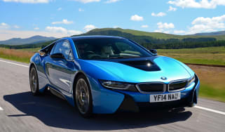 BMW i8 UK front