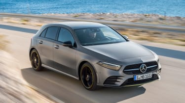 New Mercedes A-Class - front tracking