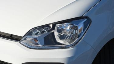 Volkswagen up! 1.0 TSI petrol - front light detail