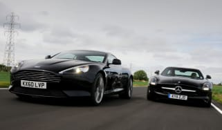 Aston Martin Virage vs Mercedes SLS AMG