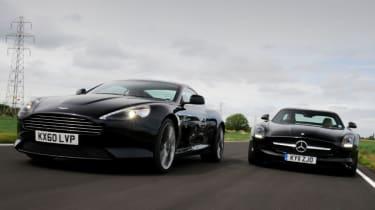 Aston Martin Virage vs Mercedes SLS AMG