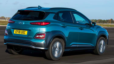 Hyundai Kona Electric - rear tracking