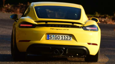 New Porsche Cayman GTS review - rear action