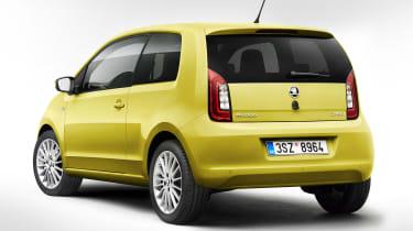 Skoda Citigo facelift 2017 - yellow rear quarter