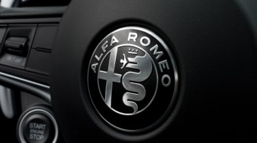 Alfa Romeo Giulia - steering wheel detail