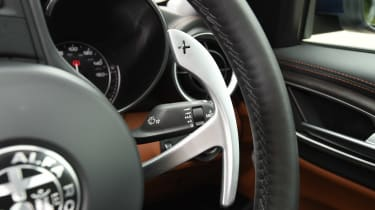 Alfa Romeo Giulia long term test - first report steering wheel detail