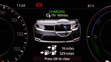 Range Rover Sport PHEV - charge