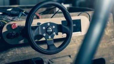 Flax fibre car - steering wheel