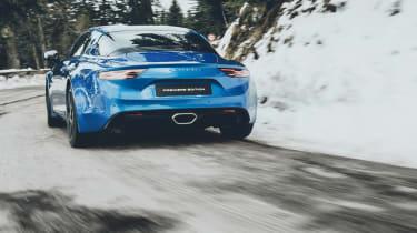 Alpine A110 sports car 2017 - rear tracking