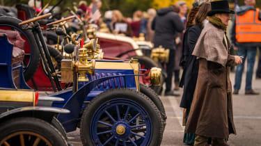 London to Brighton Veteran Car Run  -  lined up
