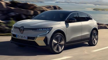 Renault Megane E-Tech Electric SUV - front action