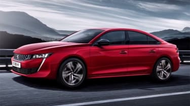 Peugeot 508 leaked - side action