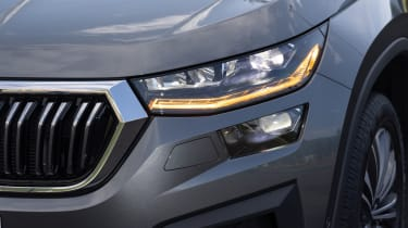 2021 facelifted Skoda Kodiaq SUV - headlight