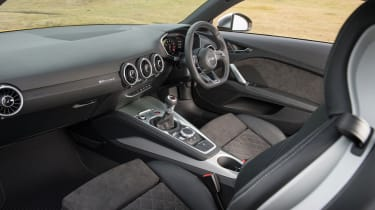 "<p class=""p1""><span class=""s1"">The cabin is as stylish as we expect from Audi, and is loaded with hi-tech kit.</span></p>"