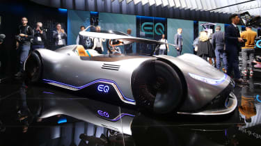 Mercedes EQ Silver Arrow front quarter