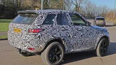 Land Rover Defender test mule side rear