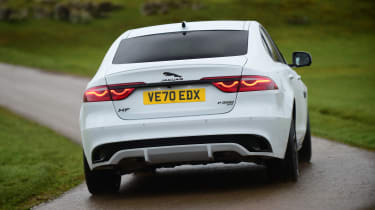 Jaguar XF facelift - rear cornering