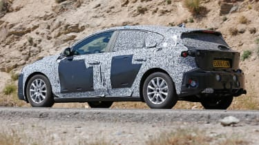 2018 Ford Focus spy shot rear quarter