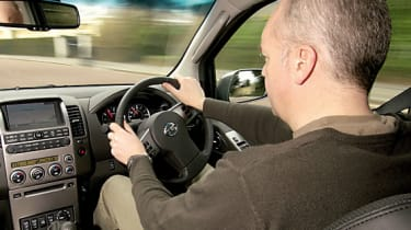 Lofty driving position offers good visibility