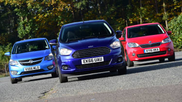 Ford Ka+ vs Vauxhall Viva vs Skoda Citigo - header 2