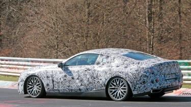 2018 BMW M8 spy shot side