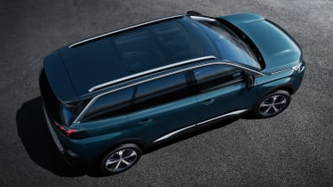 New Peugeot 5008 2016 - blue overhead