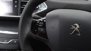 Peugeot 308 GTi - steering wheel detail