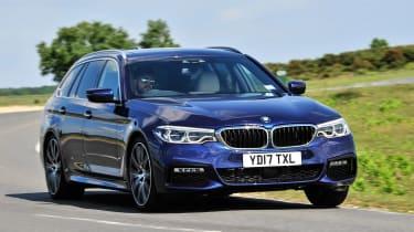 BMW 5 Series Touring - front cornering