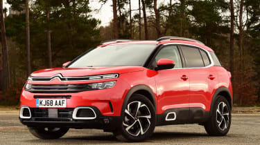 citroen c5 aircross static front quarter