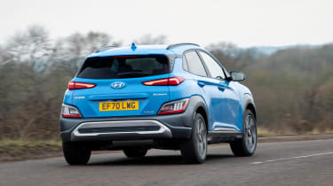 Hyundai Kona - rear cornering