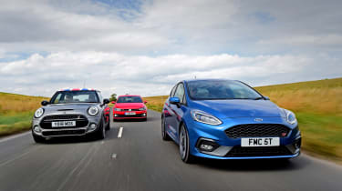 Ford Fiesta ST vs MINI Cooper S vs Volkswagen Polo GTI - head-to-head