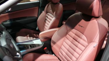 New Kia Optima GT seats